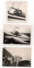Lot 3 PHOTOS - Avion - Pilote - Club - Casque - Années 1950-19460 - Aérodrome.