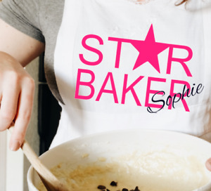 Star Baker Adult/Kids Kitchen Apron Personalised Cooking Baking British Bake Off