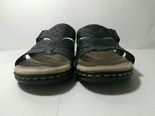 Croft & Barrow® Poppins Women's Black Sandals Slides Size 9.5