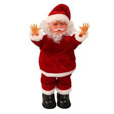 Babbo Natale che canta e balla 31 cm decorazione natalizia figura natale
