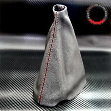 PEUGEOT 307 2000-2008 RED STITCH BLACK LEATHER GEAR STICK KNOB COVER GAITER NEW