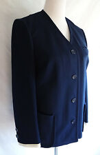 Vintage 60's Butte Knit Textured Navy Blue Jacket Mod Blazer Nautical Cloth