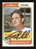 Ron Schueler #544T signed autograph auto 1974 Topps Baseball TRADED Card