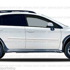 PAINTED Body Side Moldings Mouldings Trim For: SUBARU XV CROSSTREK; 2013-2018