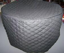 Black Quilted fabric Round Cover for CrockPots Crock Pot  NEW