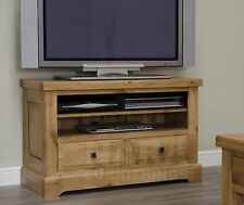 Grandeur solid oak furniture living room television cabinet stand unit