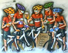 A3 SIZE CANVAS PRINT bike cycling  ART PAINTING ANDY BAKER le tour