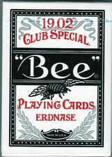 Bee Erdnase BLACK Acorn Back Playing Cards / 1 NEW deck / CARC / Ivory Finish