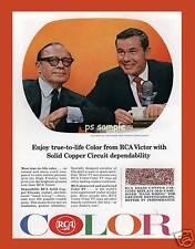 Rca Color Tv Benny/Carson - Vintage Ad Flexible Fridge Magnet