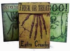 Vintage grunge Halloween gift box party favor bag assorted trick or treat spider