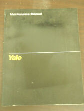 Yale Maintenance Manual For Lift Truck Models MPW, MLW, MPE, MPC, MTR