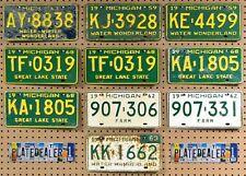 10 MICHIGAN Colored License Plates Tags Crafts Art Man Cave Decor 1 PAIR LOT 838