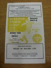 13/11/1967 Hitchin Town v Enfield  (Tiny Rusty Mark, Neat Team Changes).  This i