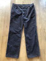 Lee Riders Corduroy Vintage Pants 60s 70s USA Union Made Tag Brown 38 (~36) x 30