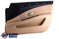 BMW 5 Series E60 E61 LCI Door Card Trim Panel Beige Leather Front Right O/S