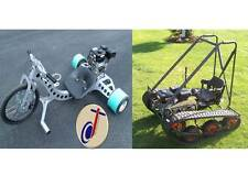 Drift Trike Industrial, Personal Tracked Vehicle TWIN PACK Build Plans