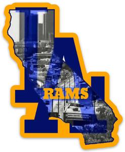 Los Angeles Rams Logo Type State of California Die-cut MAGNET
