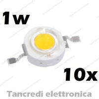 10X Chip led 1W bianco caldo 350mA 3V 3.6V alta luminosità lampadina lampada