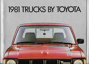 1981 Toyota (HiLux) pickup truck brochure: SR5, Deluxe, 4WD (U.S. publication)