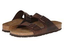 Men's Shoes Birkenstock ARIZONA Soft Footbed Slide Sandal 0452761 HABANA LEATHER