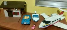 Lote Playmobil Lancha Coche Jet Avion y Casa Country