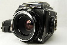 """""""EXC++"""" Zenza Bronica S2 w/ NIKKOR-P 75mm f/2.8 + 6×6 Film Holder From japan"""