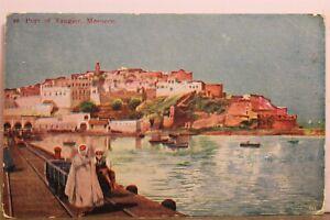 Morocco Tangier Port Postcard Old Vintage Card View Standard Souvenir Postal PC