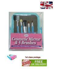 cosmetico specchio con 5 trucco pennelli doppio lati specchietto stand 1a classe
