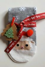 Santa Socks with Christmas Ribbon and Gift Tag - A Perfect Little Gift!