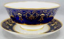 Barr Flight Worcester Cobalt & Gold Neoclassical Waste Bowl & Plate 1803 - 1813