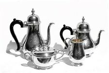 "Tiffany & Co. Makers ""Queen Anne"" Sterling Silver Tea Set"