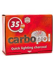 100 pcs Carbopol 35mm Hookah Charcoal - Quick Light Hookah Coals Circle Bowl NEW
