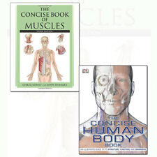Concise Human Body Book and Concise Book of Muscles 2 Books Collection Set NEW