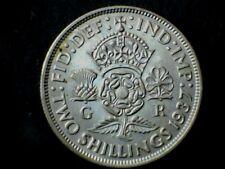 George VI 1937, Florin/Two Shilling, .500 Silver. Grade Ex Fine.