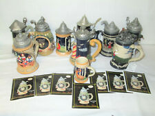 Nini Mini Beer Stein Collection Ss Sarna~ Large lot! Royal Doulton West Germany
