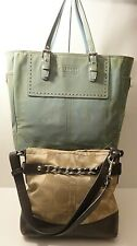 Coach F18862 & F11520 Damaged Lot of 2 Tote Crossbody Hobo Shoulder Purse Bag