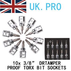 """BERGEN TORX BIT Socket Set 3/8"""" Torx Star Keys TRX TX T Torks Sockets T10 - T55"""