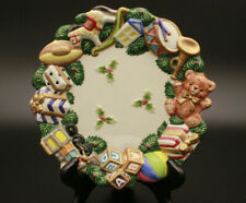 Omnibus By Fitz And Floyd Toyland Canapé Plate 1996 Christmas Wall Décor