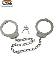More details for heavy duty leg irons legcuffs ankle shackles double locking police security