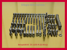 Kawasaki Ninja ZX11 / ZZR1100 / ZX1100 - V2A Schrauben Edelstahlschrauben Motor