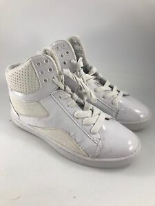 GIRLS SIZE 3 WHITE PASTRY HIGH TOP DANCE SHOES OR SNEAKERS