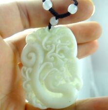 100% Chinese jade hand-carved the statue of  dragon and phoenix  PENDANT F