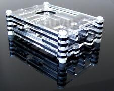 Boitier Transparent / Noir pour Raspberry Pi 2 3 Design 9 couches RP2 B, B+ RP3