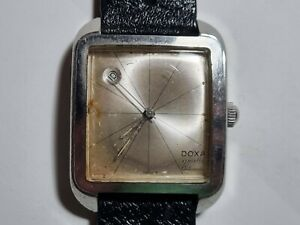 Vintage Doxa Grafic Clamshell Case Automatic Wristwatch
