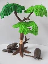 Playmobil CASTORS & arbre de nouveaux décors pour zoo/FAUNE/Western sets