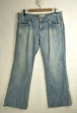 RIP CURL Light Blue Faded Distressed Straight Leg Jeans  Size 14