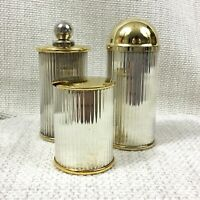 Vintage Silver & Gold Plated Pepper Mill Salt Condiment Set Cruet French 1980s