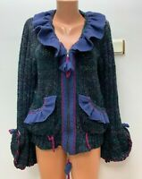 SAVE THE QUEEN size S / M / L / XL 64%WOOL 7%ALPACA Knitted Cardigan Pink Blue