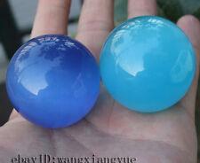 2Pcs40mm Blue Mexican Opal Sphere,Crystal Ball/Gemstone