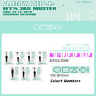 BTS 3RD MUSTER [ARMY.ZIP+] OFFICIAL GOODS [ACRYLIC STAND]  + Tracking Number